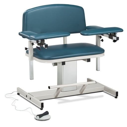 Clinton 6351 Power Series, Extra-Wide, Blood Drawing Chair with Padded Arms - New