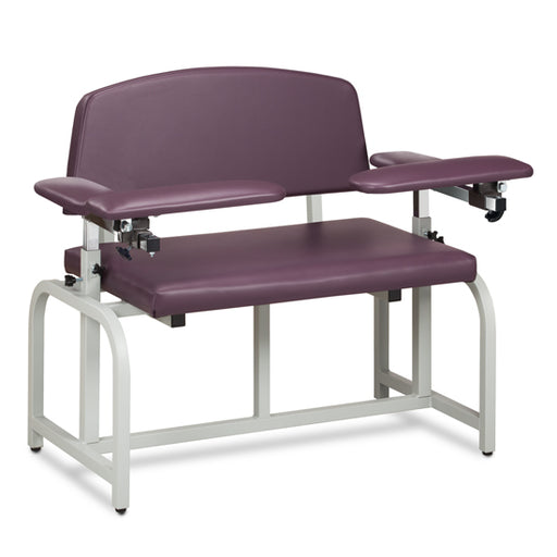 Clinton 66000B Lab X Series, Bariatric, Blood Drawing Chair with Padded Arms - New
