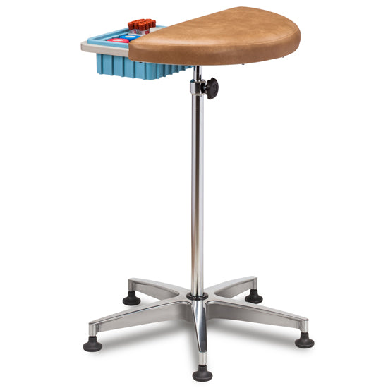 Clinton 6940 Half Round, Stationary, Padded Phlebotomy Stand - New