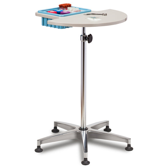 Clinton 6950 Half Round, Stationary, ClintonClean™ Phlebotomy Stand - New