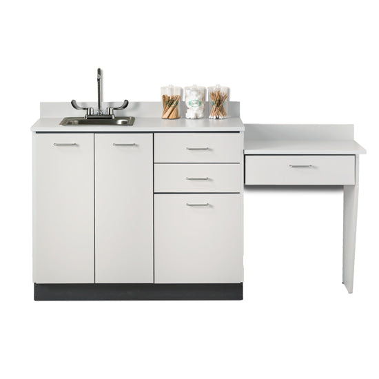 Clinton 8042-99 Base Cabinet Set with 3 Doors, 3 Drawers and Desk