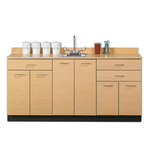 Clinton 8072 Base Cabinet with 6 Doors and 3 Drawers