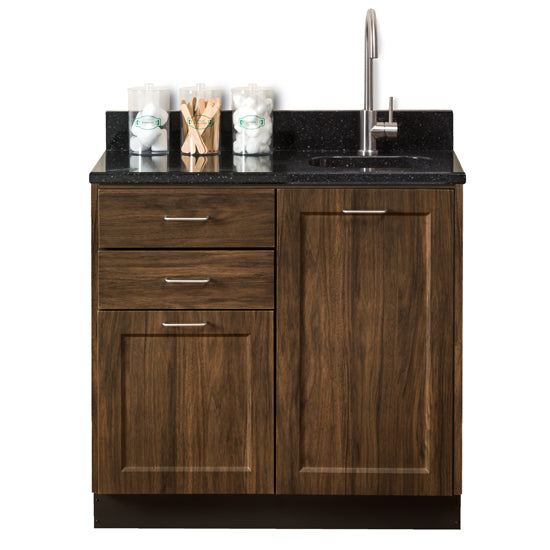 "Clinton 8636 Fashion Finish 36"" Base Cabinet with 2 Doors and 2 Drawers - New"