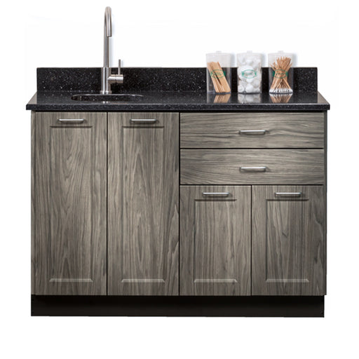 "Clinton 8648 Fashion Finish 48"" Base Cabinet with 4 Doors and 2 Drawers"