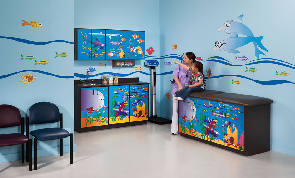 Clinton 7936-X Ocean Commotion Complete Pediatric Room