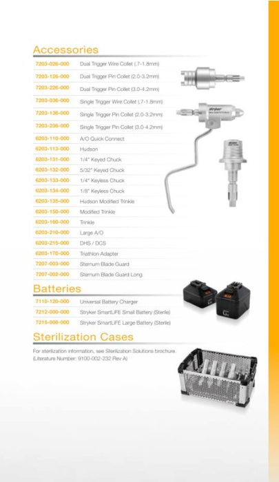 Stryker System 7 Surgical Battery Power Set