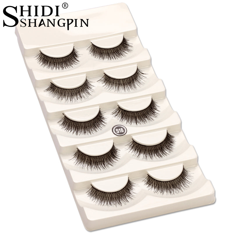 279de8bbd35 New 5 Pairs eye lashes natural wispies false eyelashes handmade makeup fake  eye lashes make up ...