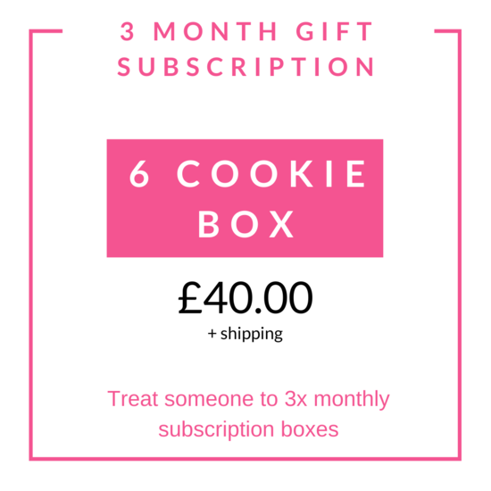 3 Monthly Cookie Gift Subscription