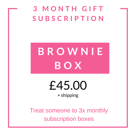 3 Monthly Brownie Gift Subscription