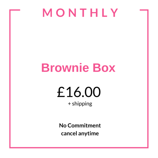 brownie subscription gift the bakehouse cranfield