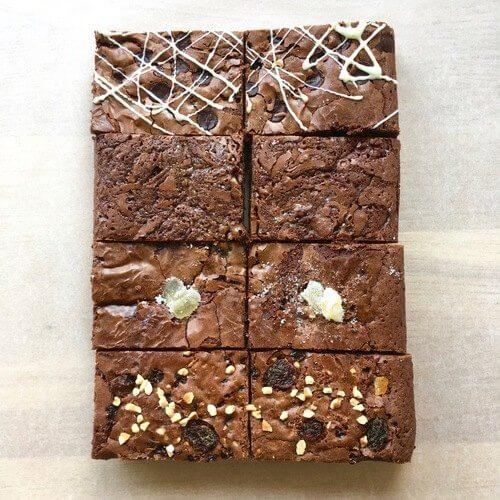 fathers day brownie gift box - brownie delivery uk