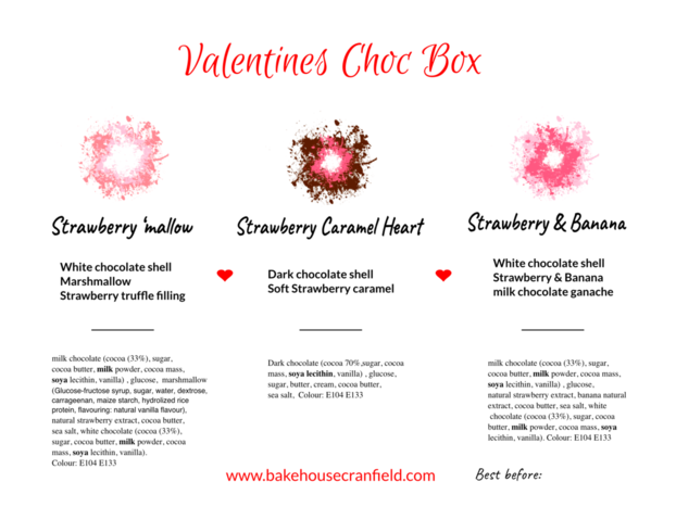 valentines gift box - heart shaped chocolates
