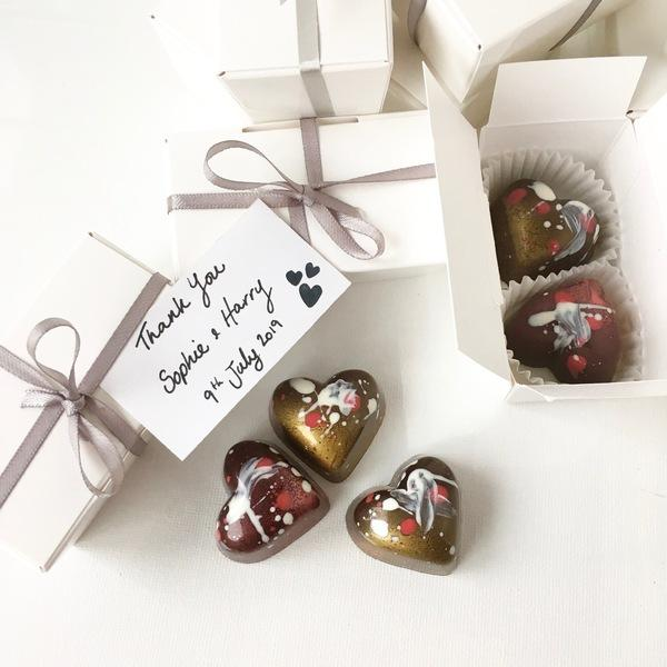 wedding favour chocolates - unusual wedding favours