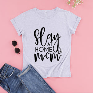 Open image in slideshow, Slay At Home Mom Tee