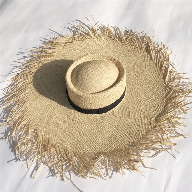 Ladies Wide Brim Summer Beach Hat