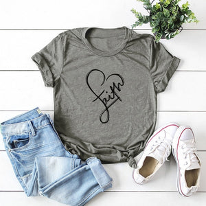 Open image in slideshow, Heart Faith Tee