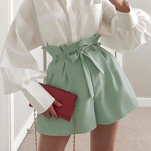 Open image in slideshow, Pleated High Waist Shorts