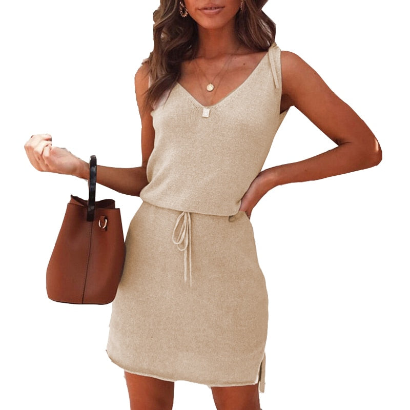 Mini Casual Backless Summer Sundress