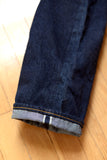 GD113 RELAXED WIDE LEG | Washed 13 Oz Selvedge Denim - Classic Indigo