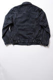 GD211 SLIM TRUCKER JACKET | Washed 13 Oz Selvedge Denim - Ash Black