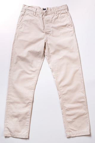 GD412 WORK PANT | 9 Oz Cotton Herringbone - Natural