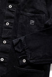 GD213 CHORE COAT | Washed 14 Oz Denim - Total Black