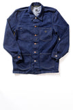GD213 CHORE COAT | Washed 14 Oz Denim - Vivid Indigo