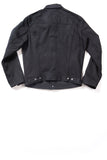 GD211 SLIM TRUCKER JACKET | Raw 14 Oz Denim - Total Black