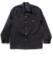 GD213 CHORE COAT | Raw 14 Oz Denim - Total Black