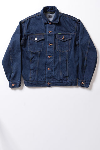 GD212 RELAXED-FIT TRUCKER JACKET | Washed 13 Oz Selvedge Denim - Classic Indigo