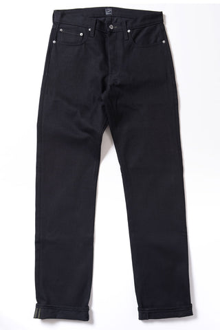 GD111 SLIM STRAIGHT | Raw 14 Oz Denim - Total Black
