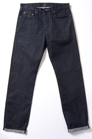 GD111 SLIM STRAIGHT | Raw 13 Oz Selvedge Denim - Ash Black