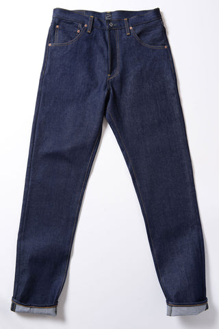 GD112 SLOUCHY TAPERED | Raw 14 Oz Denim - Vivid Indigo