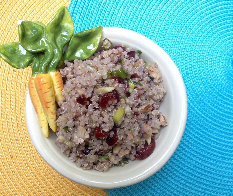 Quinoa & Pecan Salad with Dried Cranberries