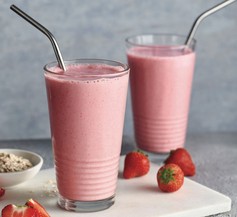 No Milk (or Guilt) Strawberry Milkshake