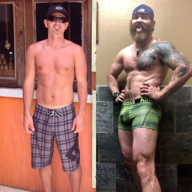 vegan bodybuilding male transformation Team Jacked on the Beanstalk vegan coaching before and after