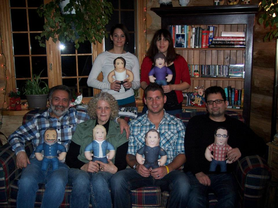 Shorkey family with dolls
