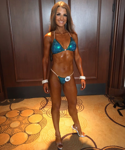 denise koutlakis vegan canadian nationals bikini competitor team jacked on the beanstalk vegan coaching