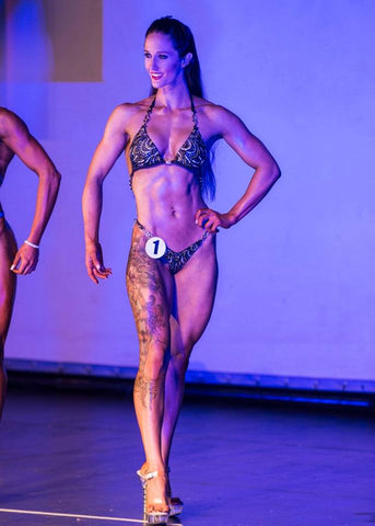kim paws vegan figure competitor team jacked on the beanstalk vegan coaching