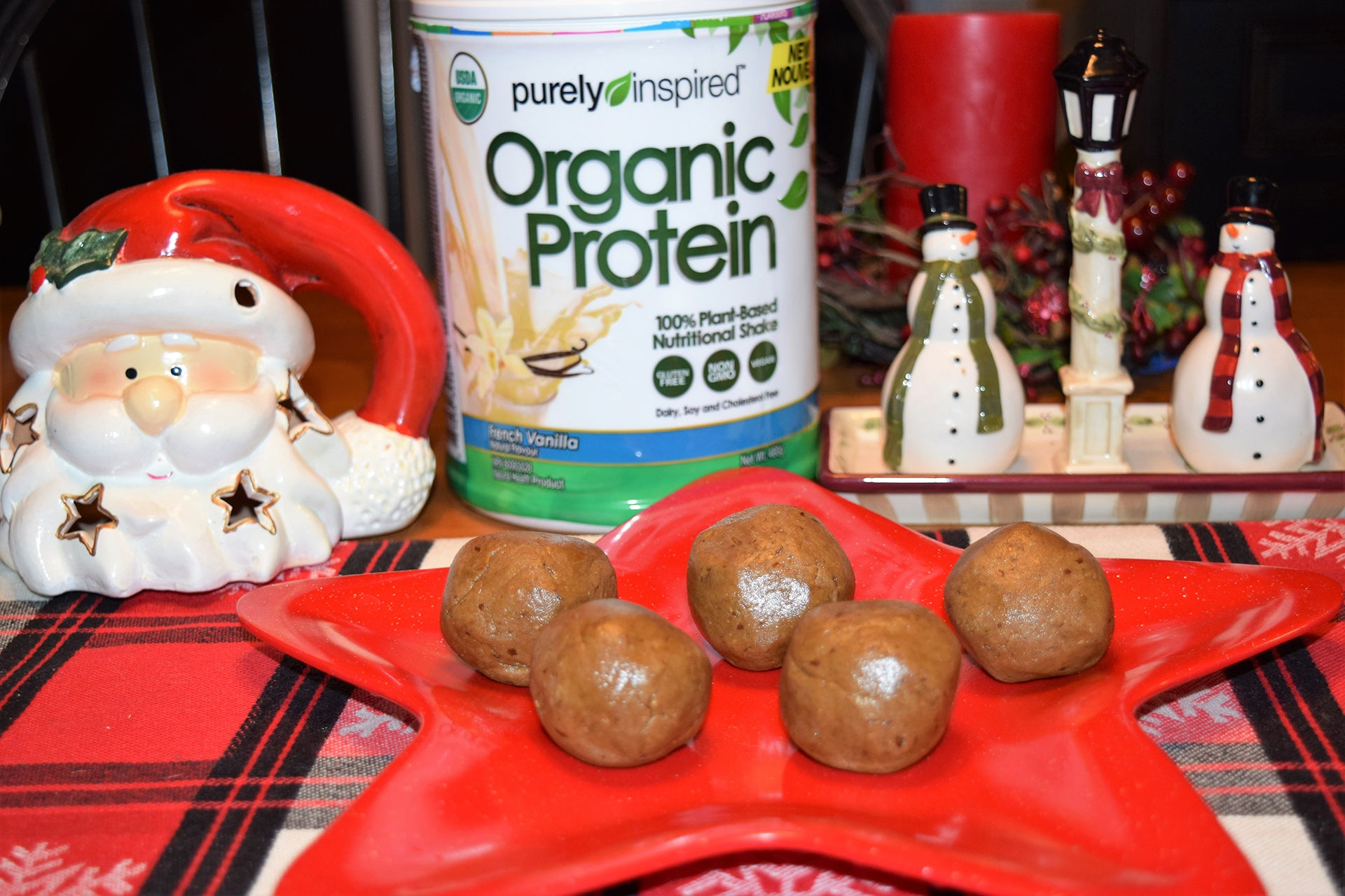 purely inspired gingerbread vegan protein balls3