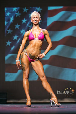 rachel yarger vegan bikini competitor team jacked on the beanstalk vegan coaching