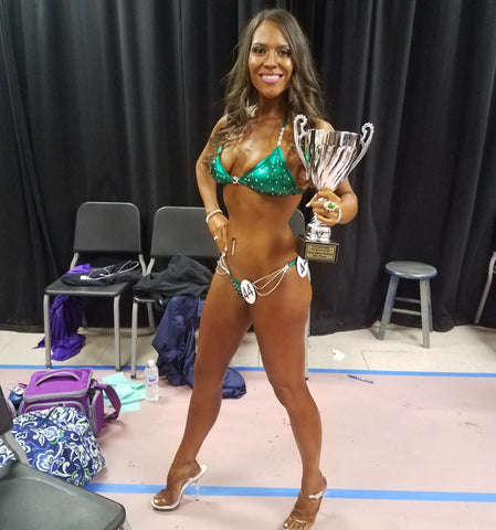 rebecca gourley vegan bikini competitor team jacked on the beanstalk vegan coaching