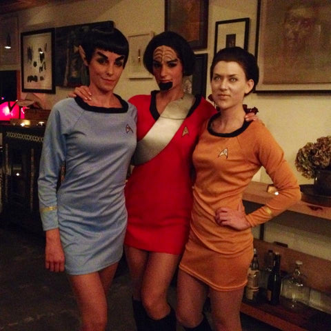Star Trek babes Samantha Shorkey Jacked on the Beanstalk Halloween costumes