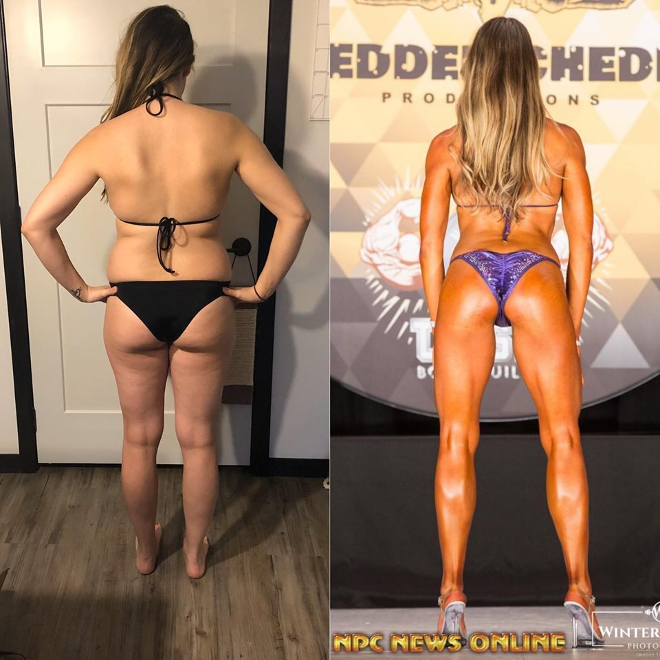 stephanie vegan bikini competitor vegan before and after