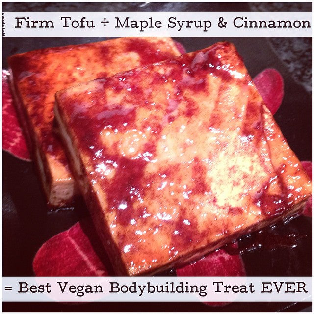 tofu with maple syrup cinnamon