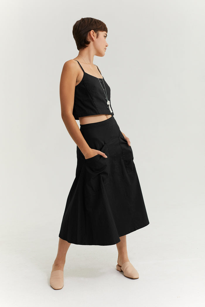 BEV SKIRT BLACK