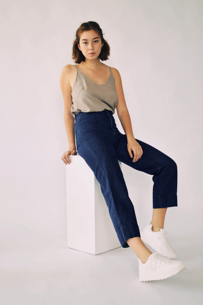 INES PANTS BLUE DENIM