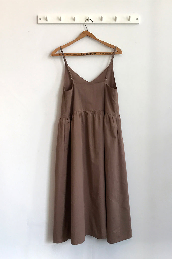 DELPHINE DRESS COCOA
