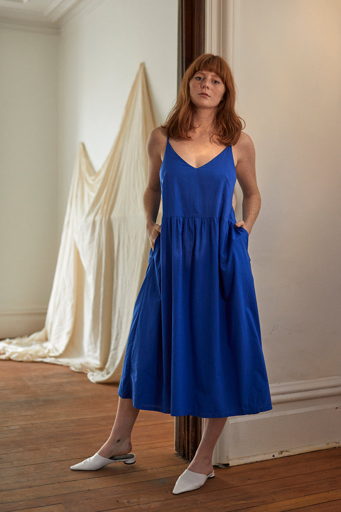 DELPHINE DRESS BLUEBELL