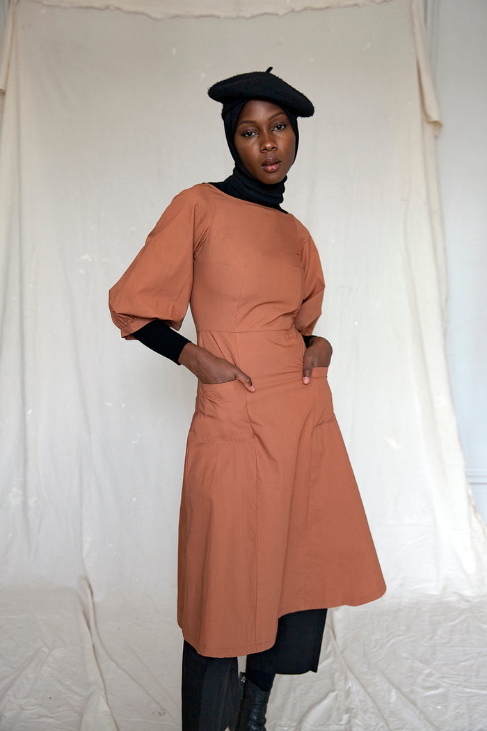 GRACE DRESS RUSSET